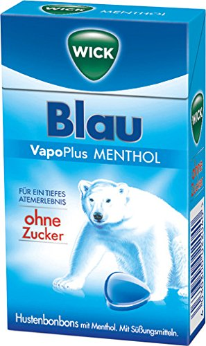Preisvergleich Produktbild WICK Blau Menthol ohne Zucker,  10er Pack (10 x 46 g)