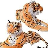Tiger Wildtier Steppe liegend Plüsch Kuscheltier ca. 80 cm Länge