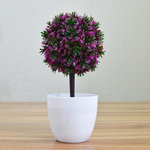Lmopop Plante en pot de simulation de petites fleurs artificielles décoration de table,Rhoeo discolor