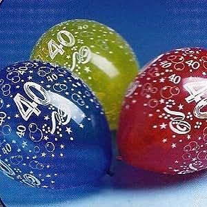 10 luftballons mit zahl 40 geburtstag ballons for Geburtstagsdeko 30