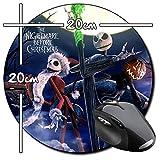 Pesadilla Antes De Navidad The Nightmare Before Christmas Tim Burton D Tapis De Souris Ronde Round Mousepad PC