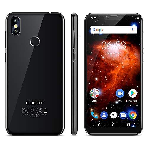 Cubot P20 Smartphone 4G, 6.18 Pollici Android 8.0 Telefono, Notch Schermo,Dual Sim, Fingerprint Smartphone,MT6750T 1.5GHz Octa Core, 4GB RAM 64GB ROM, 20MP+2MP+13MP Camera,Wifi,GPS Cellulare- Nero