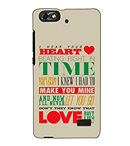 Fuson Designer Back Case Cover for Huawei Honor 4C :: Huawei G Play Mini (I Hear Your Heart Theme)