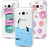 3x Funda para Samsung Galaxy J5 2016, Carcasa de TPU Silicona Suave Alta Resistencia a los Arañazos Desgastes Suciedades Case Cover Pintado para Samsung Galaxy J5 2016 - MAXFE.CO