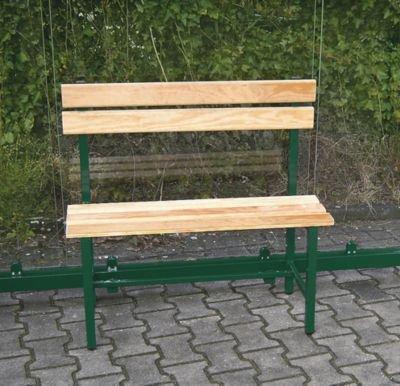 Sitzbank mit Holzauflage - Länge 900 mm für 2 Plätze - Rahmen im Farbton der Überdachung - Bank Bank aus Holz\, Metall\, Kunststoff Bänke aus Holz\, Metall\, Kunststoff Gartenbank...