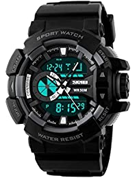 Skmei Analog-Digital Black Dial Men's Watch-1117-Grey-01