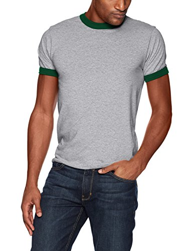 Augusta Sportswear Herren Ringer T-Shirt Größe L Athletic Heather/Dark Green - Heather Dark Green