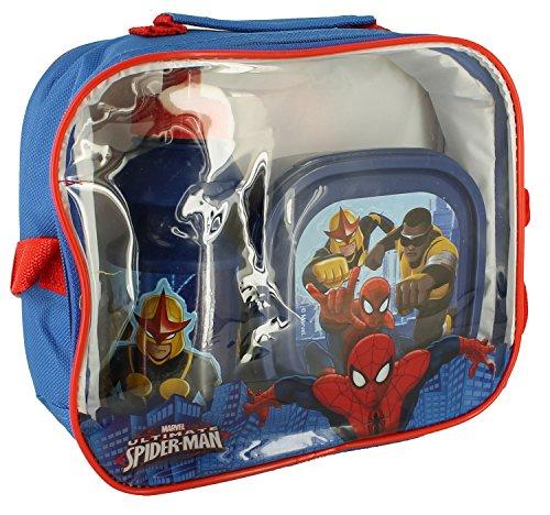 Set Lunch Bag - Sac - Boite a Goûter - gourde - Spiderman Marvel