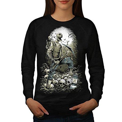 Zombie Bergmann Schädel Horror Damen M Sweatshirt | Wellcoda