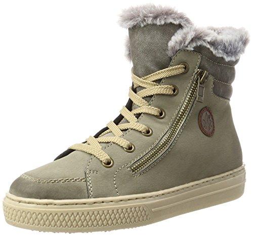 Rieker Damen Z5931 Hohe Sneaker, Beige (Beige/Maus/Maus/Mogano), 42 EU