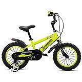 Kinderfahrräder Baby Pedale Fahrrad 2-3-4-5-6 Jahre Alt 12 14 16 18 Zoll Jungen und Mädchen Fahrradkinderwagen Speichenrad Ein Rad Gelb (Farbe : Spoke Wheel, Größe : 14 inch)