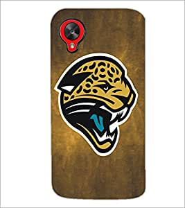 PrintDhaba Leopard Face D-5183 Back Case Cover for LG GOOGLE NEXUS 5 (Multi-Coloured)