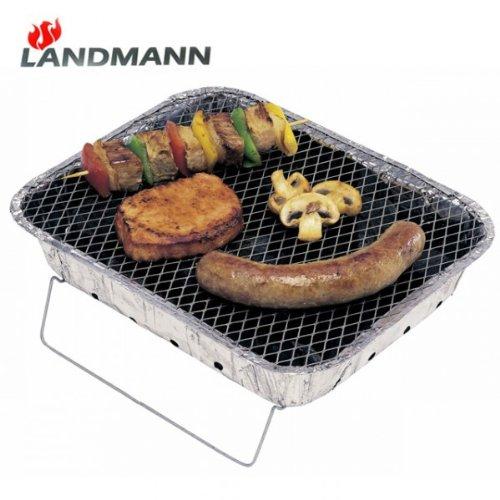 Einweggrill Landmann 0600 Campinggrill mit Briketts und Anzünder Pocket Grill NEU