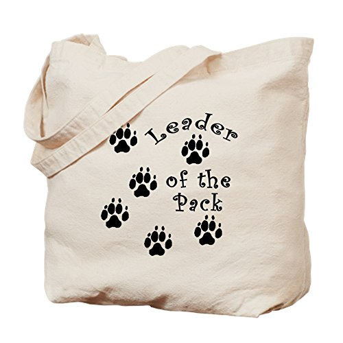 CafePress Doggy Leader of The Pack Tragetasche, canvas, khaki, S -