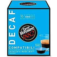 Se ami il caffè decaffeinato prova le capsule compatibili con macchine A Modo Mio, in pochi minuti potrai gustarti un caffè dall'aroma intenso. Confezione da 16 capsule di Caffè Vergnano.
