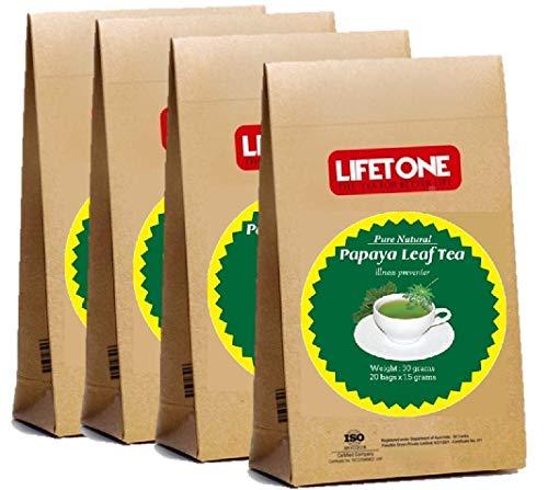 Té puro de hoja de papaya | El refuerzo del sistema inmunitario | Detox Cleanse Tea 80 bolsitas de té