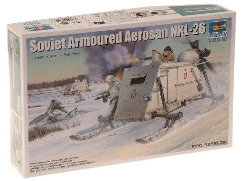Imagen principal de Trumpeter 02321 NKL-26 Soviet Armoured Aerosani - Motonieve blindada soviética en miniatura