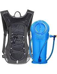 Unigear Mochila Hidratación Mochila Tactica Running Trail con 2L Deposito De Agua Desmontable Bolsa De Agua
