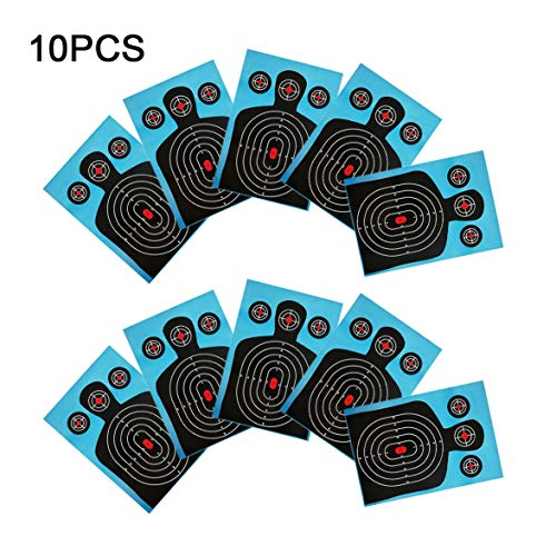 0er Pack Schießscheiben 12 * 18 Zoll Silhouette Schlecht Splatter Reactive Paper Targets Fluoreszierende Gewehr Pistole Airsoft Pellet Gun ()