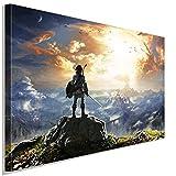 The Legend of Zelda 2 Leinwandbild LaraArt Studio Wanddeko Wandbild 40 x 30 cm