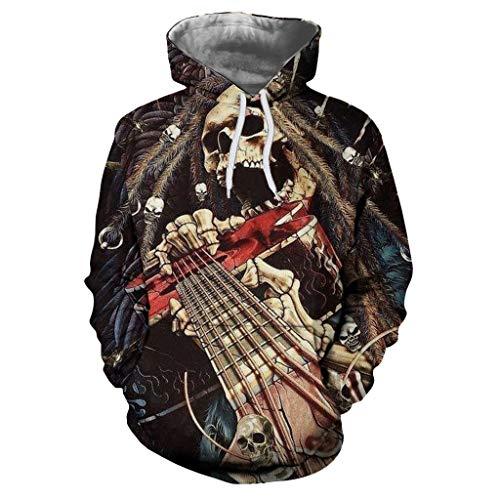 Saingance Unisex Kapuzenpullover Langarm Herbst Winter Realistischer 3D-Digitaldruck Hoodie Sweatshirt