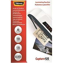 Fellowes 53072 Laminierfolien Capture 125 Mikron, DIN A6 (100er Pack)