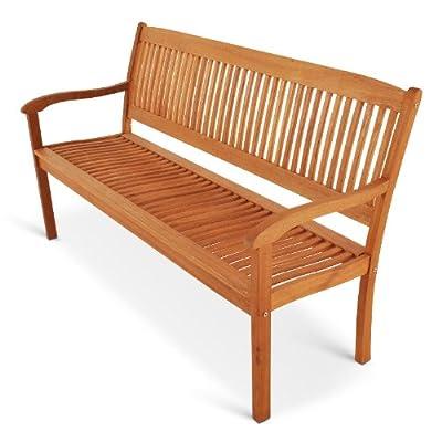 SAM® Akazienholz Gartenbank, Sitzbank Maracaibo 3 Sitzer 160 cm, mit hoher Rückenlehne und Armlehne, angenehmer Sitzkomfort
