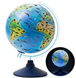 Exerz 25CM Zoo-Geo Illuminated Globe with Cable Free LED Light/ 2 in 1/