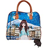 SHOPPOWORLD Women's Digital Prints Hand Bag/Shopping Bag/Carry Bag Multicolor