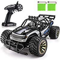 SGILE 1:16 Remote Control Car Toy for 6-12 Years Old Kids - 2.4Ghz 15KM/H RC Drift Car with 2 Batteries, Xmas Gift for Boys Girls, Black