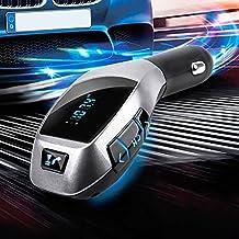 Bluetooth Transmisor FM Car Charger Adapter Bluetooth Car Kit Transmisor FM Radio mp3 Player Car Cigarette con USB Ranura para tarjeta SD para tarjeta TF Todos los teléfonos inteligentes y otros dispositivos Bluetooth