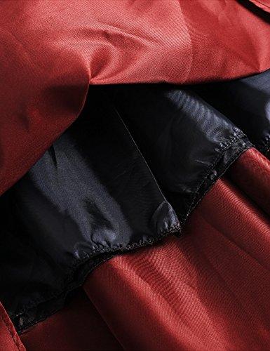 MinYuocom Damen Rock Hohen Taille Faltenröcke Midi A-line Skater Plissee Faltenrock MZF6605 Rot