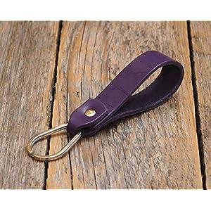 Lila Schlüsselband Leder Schlüsselanhänger Klammer Schlüssel Anhänger