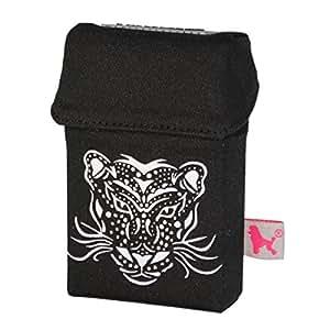 Smokes Hirt Custodia alla moda per pacchetti di sigarette, rivestimento, custodia, spinotto per cellulare per pacchetti di sigarette, Black Cat (multicolore) - 1604D