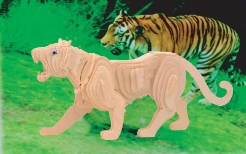 Puzzled, Inc. 3D Natural Wood Wood Wood Puzzle - Tiger by Puzzled, Inc.   Exquis (en) Exécution  6e4225
