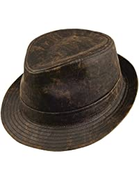 Jaxon & James Hats Weathered Cotton Trilby - Brown