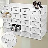 9 vani portascarpe in plastica, cassettiera portascarpe con cassetti di alta qualità trasparenti staccabili e impilabili per donne e uomini