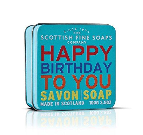 SAVON dans une boîte de savon fine écossais-« Happy Birthday » 100 g