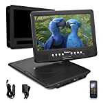 NAVISKAUTO Multimedia Portable DVD Player with Built-in 5 Hours Battery 10.1 Inch LCD Screen USB SD Support 1080p HD Video ,Includes Headrest Mount Case Car Charger