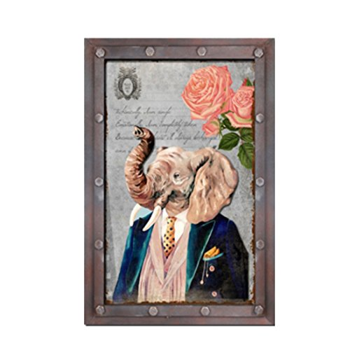 er Zeichen Retro Vintage Holz Grafik Elefant Exklusiv ()