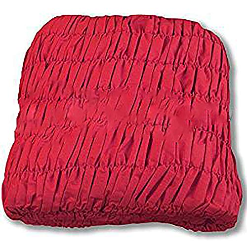 R.p. copridivano universale arricciato - 5 posti - divano angolare - tinta unita melange bordeaux