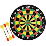 """Tryviz 100% Original 18inch Double Faced Flock Printing Thickening Family Game Dart Board With Free 6 Needle (Brown Dart 18"""")"""