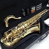 Marke neue Musik FANCIER Club Tenor Saxophon t-992Gold Lack Professionelles Mundstück Tenor Saxophon mit Fall Blättern Hals