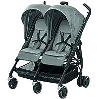Bébé Confort Dana For2 Passeggino Gemellare Fratellare Compatto, Reversibile Reclinabile, Sedute Affiancate