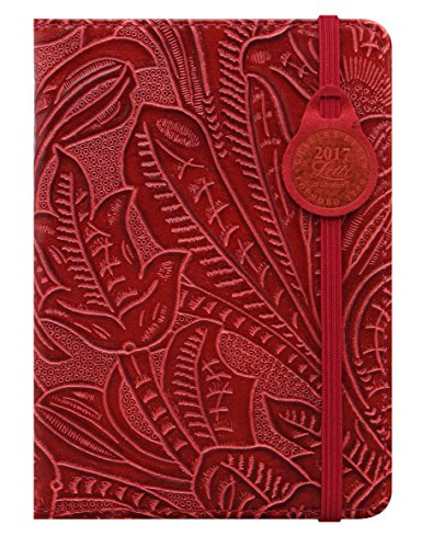 Letts 17-080399P A6 Baroque 1 Woche auf 2 Seiten, 2017, multilingual, Kalender, rot