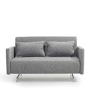 Canapé convertible - canapé-lit en tissu gris clair - Ready