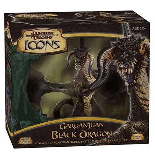 D&D Icons Gargantuan Black Dragon (D&D Miniatures Accessories)