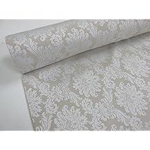 Confección Saymi - Metraje 0,50 mts. tejido Jacquard Ref. Versalles, color Hueso, con ancho 2,80 mts.