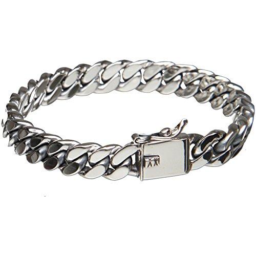 Bouddha to Light Argent Sterling Chaînes Bracelet à Maillons Taille XL eie 499eur