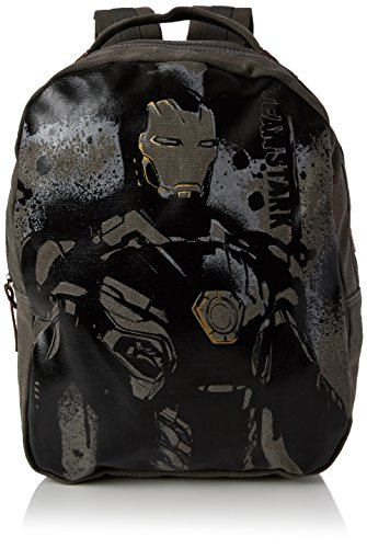 BB Designs Europe Limited Unisex-Erwachsene Legend Iron Man Canvas Back Pack Rucksack, Grau -